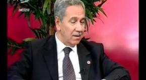 Avrupa Masasi. Politika Masasi. Basbakan yardimcisi Bülent Arincla ilgic sohbet. Zeki Sahin