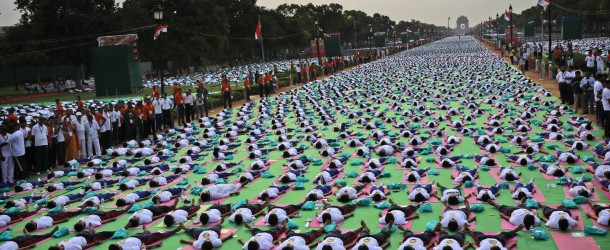 Millions of people bend and twist their bodies for Yoga Day
